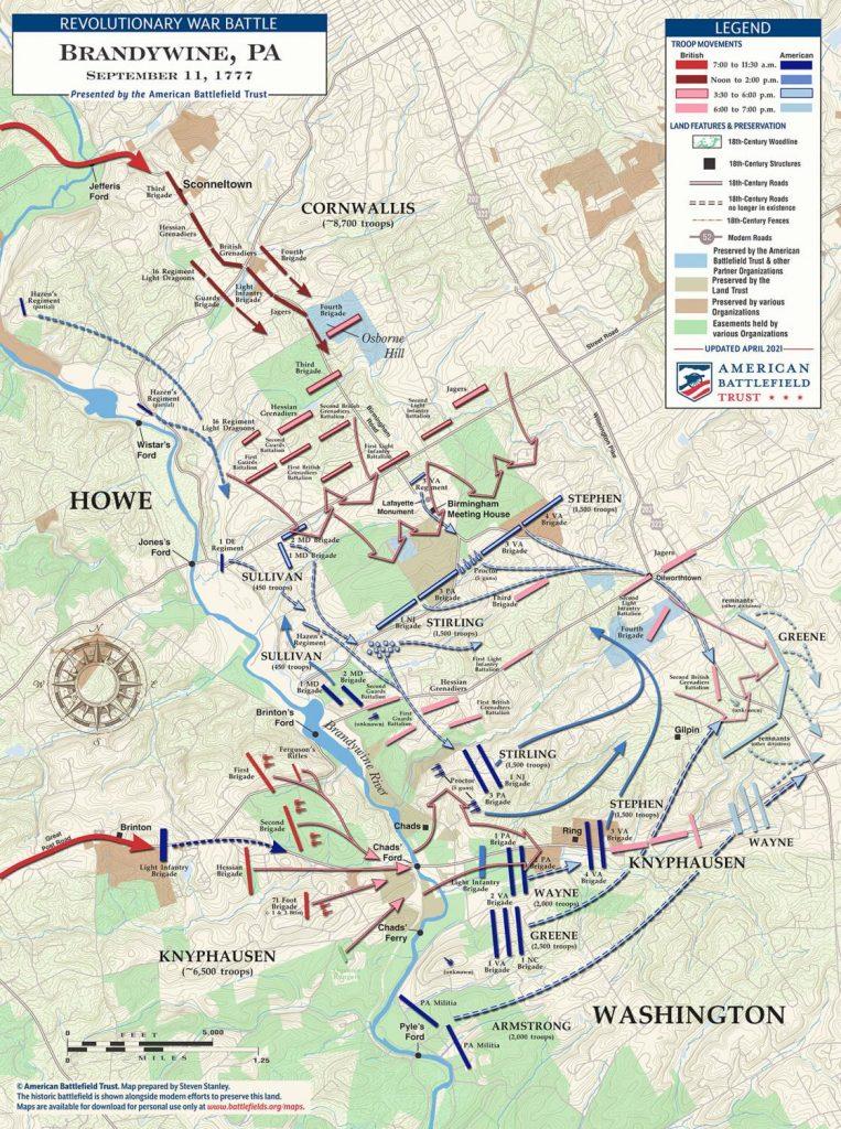 Brandywine battlefield map